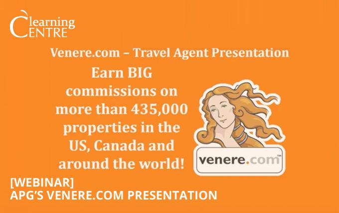 [Webinar] APG Webinar On Venere.com