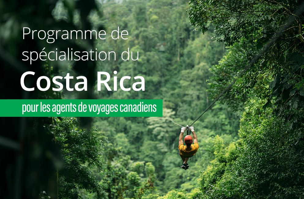 Programme De Spécialisation Du Costa Rica Pour Les Agents De Voyages Canadiens