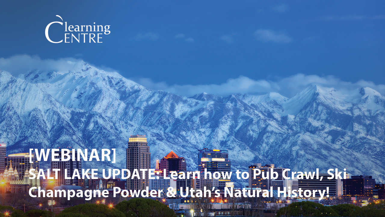 Salt Lake Update:  Learn How To Pub Crawl, Ski Champagne Powder And Learn About Utah's Natural History!